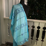 Ohe Kapala Rayon Wrap in Turquoise