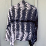 Shibori Honeycomb Rayon Shrug in Black