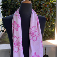 Ohe Kapala  Rayon Infinity Scarf in Cherry Blossom Pink
