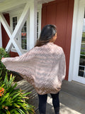 Shibori Honeycomb Rayon Shrug in Light Brown
