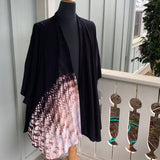 Shibori Honeycomb Ki-wrap in Dark Brown