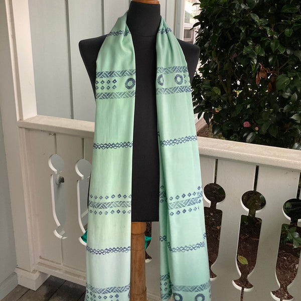 Ohe Kapala Rayon Wrap in Mint Green