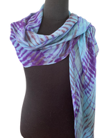 Silk Shibori Wrap in Blue and Purple
