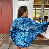 Shibori Silk & Wool Shrug in Four Colorways