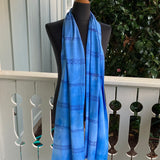Ohe Kapala Rayon Wrap in Medium Blue