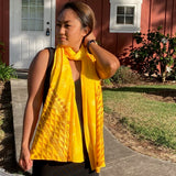 Ohe Kapala Rayon Wrap in Bright Yellow