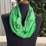 Ohe Kapala  Rayon Infinity Scarf in Kelly Green