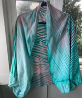 Shibori Bamboo & Rayon Shrug in Two Colorways
