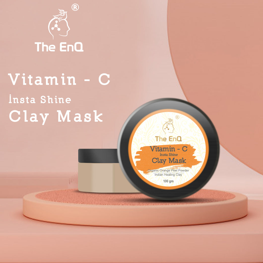 The EnQ Vitamin-C Insta Clay Mask 100gm