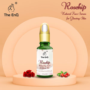 The EnQ Rosehip Serum For Glowing Skin || 100% Natural || Rejuvenating  Skin || Reduce Acne, Wrinkle & Dark Circle || For All Skin Type||