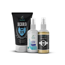 Load image into Gallery viewer, Beard Spa + Beard Oil + Men's Ultra Glow Lotion for Men