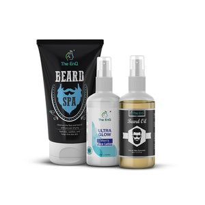 Beard Spa + Beard Oil + Men's Ultra Glow Lotion for Men