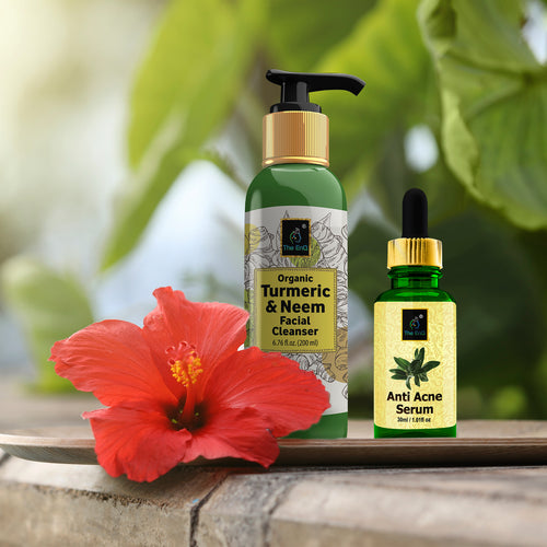 Anti Acne Serum + Neem Turmeric Cleanser