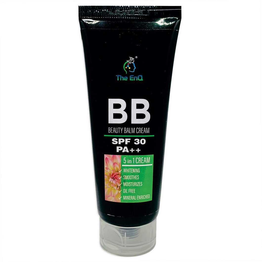The EnQ BB Cream (BEAUTY BALM) with Spf 30 PA++ 5 in 1 Cream 80gm