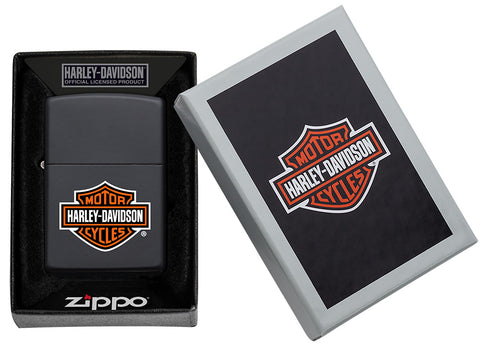 218HD, Harley-Davidson Classic, Color Image, Black Matte, Classic Case in packaging