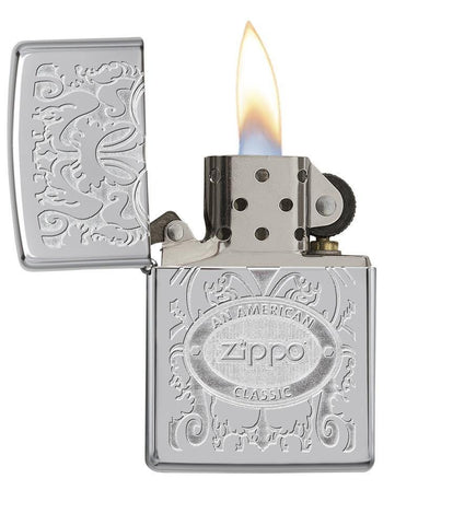 24751, Crown Stamp, Double Lustre Engraving, Top Stamp, High Polish Chrome, Classic Case