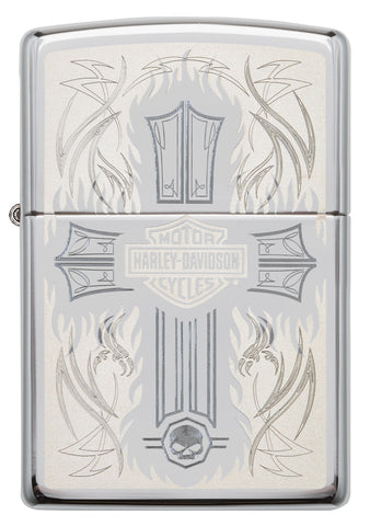 Front of Harley-Davidson® Cross Chrome Windproof Lighter