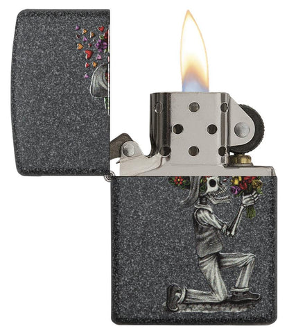 28987, Iron Stone Skeleton Husband and Wife Lighters Set of Two, Color Image, Iron Stone
