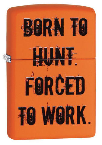 29269, Born to Hunt, Color Image, Orange Matte, Classic Case