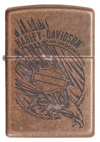 29664 - Harley-Davidson®Antique Copper Eagle Lighter, Front View