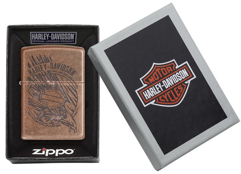 29664 - Harley-Davidson®Antique Copper Eagle Lighter, Packaging