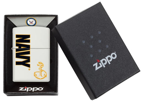 Navy White Matte Lighter