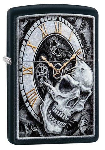 Skull Clock Design Lighter
