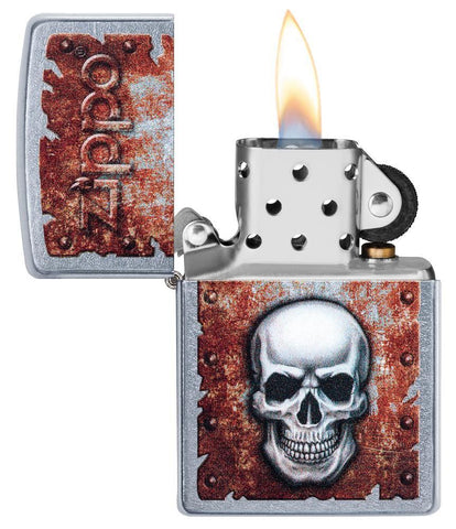 Rusted Skull Design Lighter