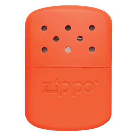 Front of 12-Hour Blaze Orange Refillable Hand Warmer