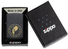 Aquarius Zodiac Sign Design Black Matte Windproof Lighter in its packaging