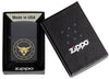 Taurus Zodiac Sign Design Black Matte Windproof Lighter in its packaging