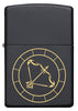 Front of Sagittarius Zodiac Sign Design Black Matte Windproof Lighter