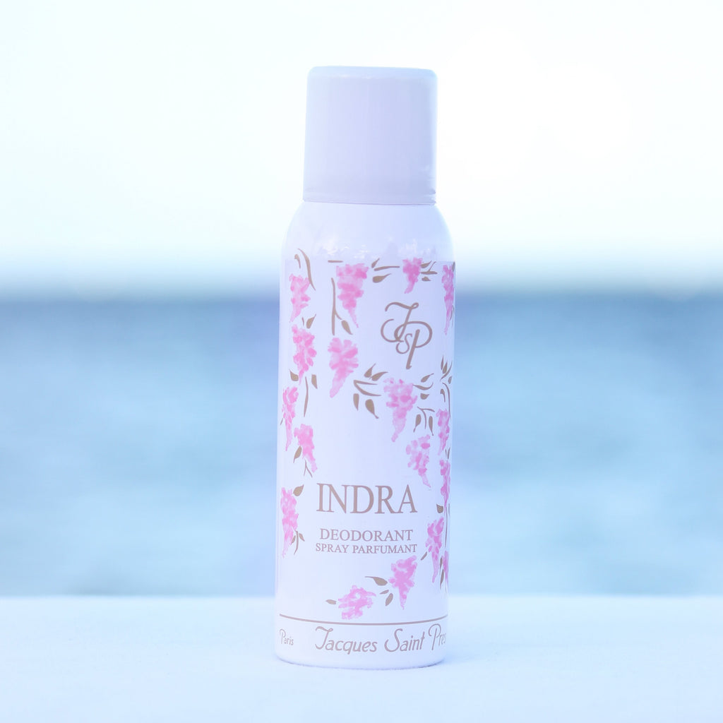 Jacques Saint Pres Indra women's perfume scented deodorant in front of beach