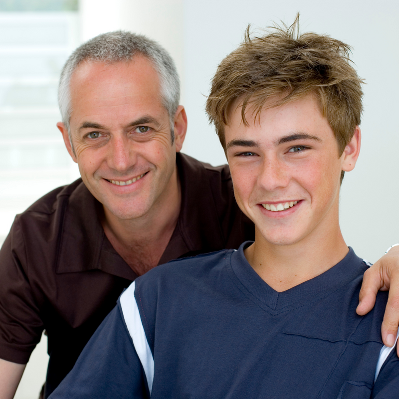 Parent and Teenage Son