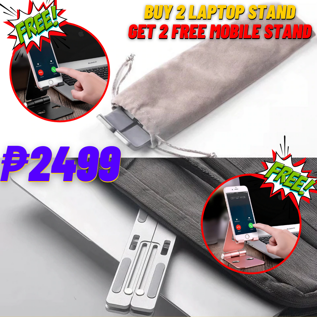 Foldable Laptop Stand | FREE Aluminum Mobile/Table Stand