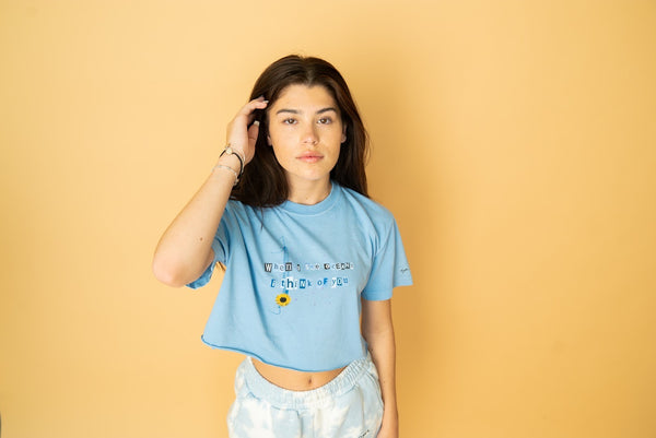 Baby Blue Crop T-Shirt