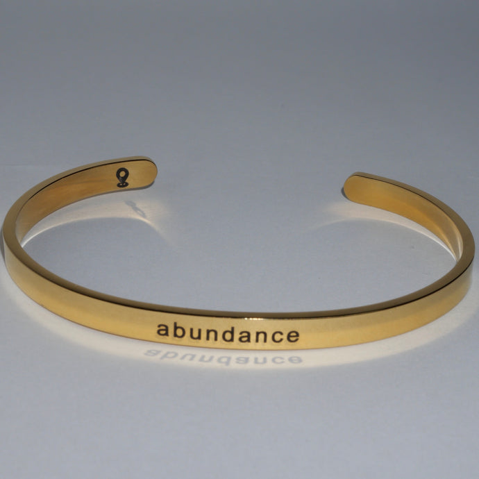 Customized Gold Cuff Bracelet Abundance