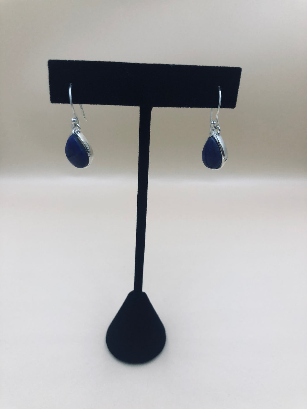 Sterling Silver Natural Lapis Lazuli  Stone Earrings