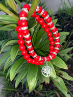 Red Turquoise Tree of Life Bracelets