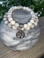 White Howlite Tree of Life Bracelets