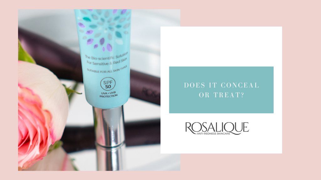 Does Rosalique conceal or treat redness?