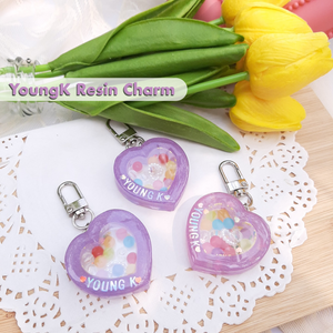 [Moonchiine] Day6 YoungK Resin Charm (purple)