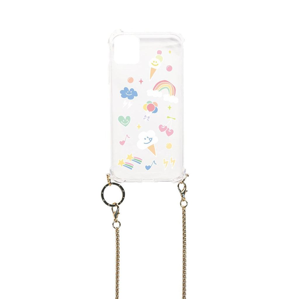 [PRE-ORDER] BLACKPINK CHAIN PHONE CASE - ICECREAM CONE CLEAR