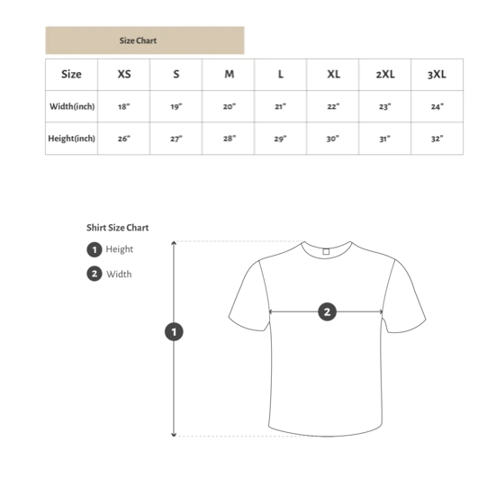 Studio Collection shirt size guide