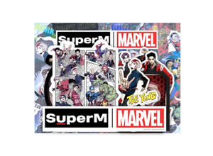 [PRE-ORDER] Super M x MARVEL Luggage Sticker Set