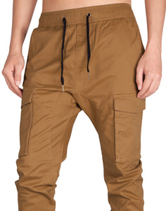 Man Jogger Cargo Pants Brown - italymorn