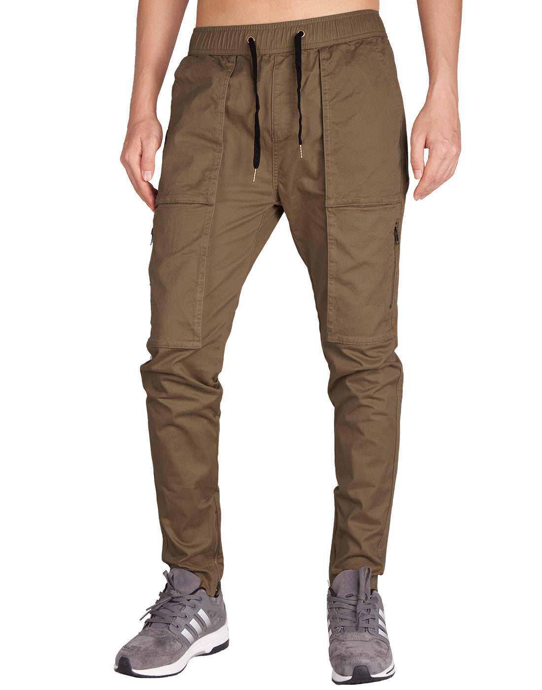 Man Designer Cargo Pants Coffee - italymorn