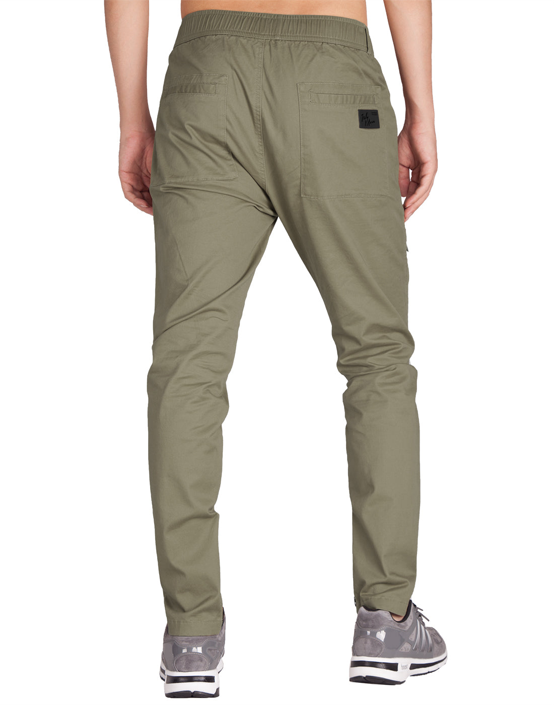 Man Designer Cargo Pants Grey Green - italymorn