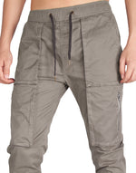 Load image into Gallery viewer, Man Designer Cargo Pants Mid Grey - italymorn