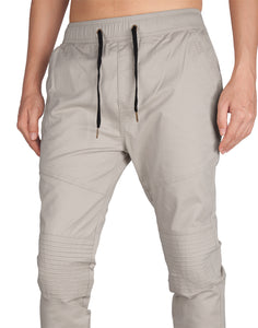 Man Biker Skateboard Jogger Pants Light Grey - italymorn